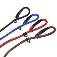 Nylon Rope Pet Dog Slip Training P-Leash Walking Leading Collar