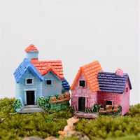 DIY Craft Landscape Dollhouse House Potted Plant Garden Decor