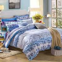 3 Or 4pcs Pure Cotton Flower Reactive Print Bedding Sets With Duvet Cover