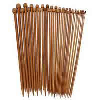 36pcs Bamboo Knitting Needles Sweater Scarf Needlework Accessories