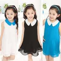 Kids Girls Chiffon Tulle Tutu Dress Sleeveless Party Skirts
