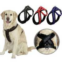 Adjustable Pet Dog Harness Walking Chest Strap Belt Lead Leash D-Ring