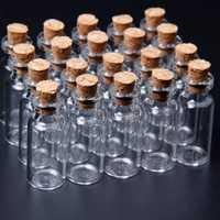 10Pcs 16x35mm Mini Clear Wishing Message Glass Bottles