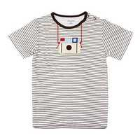 2015 New Little Maven Lovely Camera Baby Children Boy Cotton Short Sleeve T-shirt Top