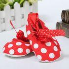 Cheap Discount Newborn Girl Baby Infant Toddler Bow Dot Crib Pram Soft Sole Shoes