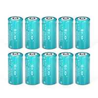 10PCS MECO 3.7v 1200mAh Reachargeable CR123A/16340 Li-ion Battery