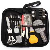 144 Pcs Watch Repair Tools Kit Back Case Remover Clock Battery Strap Repair Kit