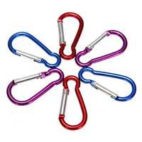 1 Pcs Metal Carabiner Clip Snap Hook Key Ring Chain Buckle For Camping Hiking