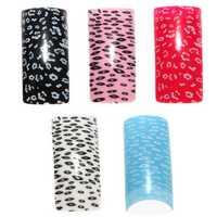 100pcs Acrylic UV French Half False Nail Art Tips 10 size
