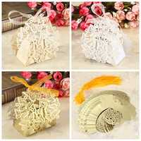 50pcs Candy Sweet Ribbons Butterfly Boxes Wedding Party Gift Candy Box