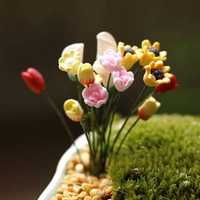 Artificial Flowers Callalily Tulip Rose Small Ornaments Moss Micro Landscape