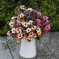 Artificial Daisy Silk Flowers Leaf Home Party Wedding Garden DIY Decorations
