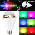Meilleur prix E27 bluetooth App Control Music Playing Audio Speaker LED Lamp 90-240V