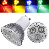 GU10 3W AC 220V 3 LEDs Red/Yellow/Blue/Green LED Spotlight Bulbs