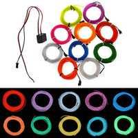 3M Flexible Neon EL Wire 10 colors 12V Light Dance Party Decor Light