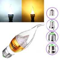 Dimmable E27 E14 E12 B22 4.5W 220V LED Chandelier Candle Light Bulb