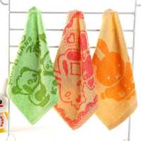 25*25cm Pure Cotton Handkerchief Baby Cartoon Napkin Face Bath Towel