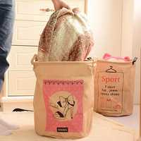Multifunction Clothes Storage Basket Sorter Bag Laundry Hamper Toys Bin