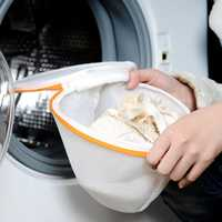 Cylindrical Mesh Grid Underwear Bra Washing Bag Laundry Bags
