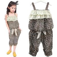 Baby Girls Leopard Clothes Sets Vest Pants Suits Outfits