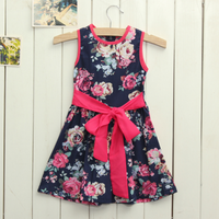 Baby Girls Summer Sleeveless Flower Casual Dress