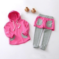 Baby Girls Casual Hooded Long Sleeve Top Pants Sets
