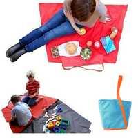 Baby Children Multifunctional Outdooors Storage Bag Picnic Toy Mat