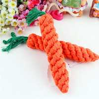 Pet Dog Hamster Guinea Pig Rabbit Straw Carrot Chew Play Toy