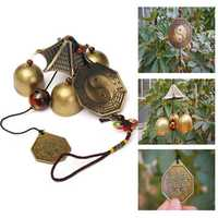Antique Bronze Gossip Wind Chime Outdoor Garden Wind Chimes Three Bells
