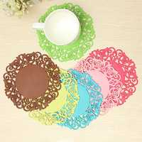 Silicone Coaster Non Slip Cup Mat Cushion Holder Drink Placemat