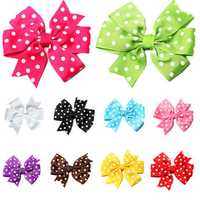 Pet Dog Cat V-shaped Polka Dot Little Rib Ribbon Bow Headband