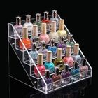 Meilleurs prix 22.5 CM 5 Tiers Acrylic Nail Polish Display Stand Cosmetic Organizer