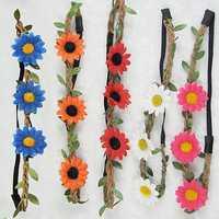 Boho Style Floral Flower Festival Beach Party Hair Band Headbrand