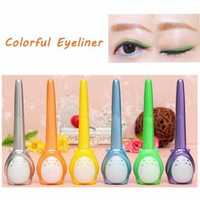 Charming Long Lasting Dual Use Colorful Eyeliner Eye Liner Pen Liquid Makeup