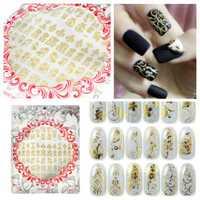 3D Gold Flower Nail Art Sticker Hot Stamping Decals J003