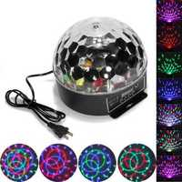 6 Color Disco DJ Stage Lighting Digital LED RGB Crystal Ball Light