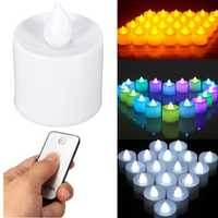 24pcs Flameless Battery Operated LED Candle Light With Remote Control For Wedding Party