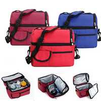 Convenient Picnic Lunch Bag Cooler Bag Ice Bag Lunch Box Assorted Colors Available