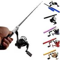 ZANLURE PFS-01 Mini Telescopic Portable Pocket Pen Shape Aluminum Alloy Fishing Rod Reel Line Set Kits