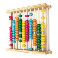 Baby Kids Wooden Abacus Toys Computing Calculator Math Learning Tool