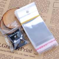 100pcs OPP Zip Lock Plastic Bags Self Adhesive Transparent Packaging Jewelry