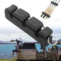 Universal 6-ROD Car Boat Fishing Rod Rests Magnetic Poles Storage Rack Rod Holder