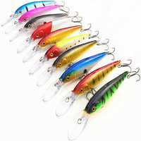 ZANLURE 10pcs/set 10.5g 11cm Minnow Fishing Lure Crankbaits Hard Hooks Floating Baits Deep Swim