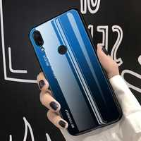 Bakeey Gradient Color Tempered Glass + Soft TPU Back Cover Protective Case for Huawei Honor 8X