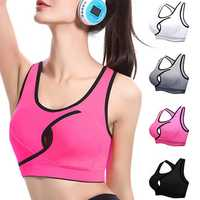 Women Sexy Small Key-hole Front Top Shockproof Wireless Breathable Sport Yoga Bras