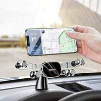 Baseus Horizontal Direct-view Gravity Linkage Automatic Lock Dashboard Car Mount Car Phone Holder For 4.7 Inch-6.5 Inch Smart Phone
