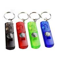 IPRee® 4 In 1 EDC Multifunctional LED Compass Whistle Mini Keychain Emergency Survival Kit