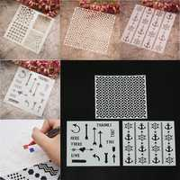 4 Designs Stencils Template DIY Scrapbooking Paper Card Craft Painting Tool