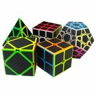 Les plus populaires 5Pcs Per Box Carbon Fibre Magic Cube Pyraminx Dodecahedron Axis Cube 2x2 And 3x3 Cube Speed Puzzle