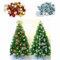 32pcs Christmas Ornaments Balls Drums Baubles Xmas Tree Pendant Home Party Decor
